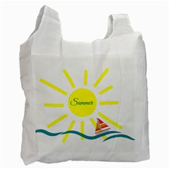 Summer Beach Holiday Holidays Sun Recycle Bag (one Side)