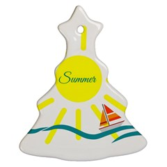 Summer Beach Holiday Holidays Sun Christmas Tree Ornament (two Sides)