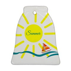 Summer Beach Holiday Holidays Sun Bell Ornament (two Sides)
