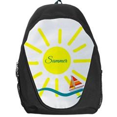 Summer Beach Holiday Holidays Sun Backpack Bag