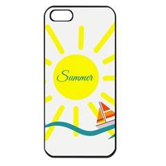 Summer Beach Holiday Holidays Sun Apple Iphone 5 Seamless Case (black)