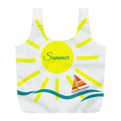 Summer Beach Holiday Holidays Sun Full Print Recycle Bags (l)
