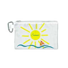 Summer Beach Holiday Holidays Sun Canvas Cosmetic Bag (s)