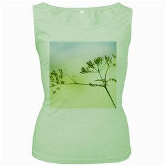 Spring Plant Nature Blue Green Women s Green Tank Top