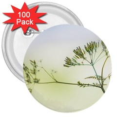 Spring Plant Nature Blue Green 3  Buttons (100 Pack)