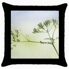 Spring Plant Nature Blue Green Throw Pillow Case (black)