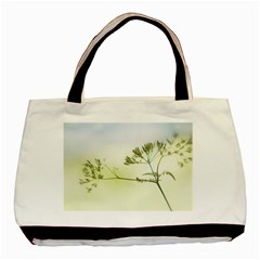 Spring Plant Nature Blue Green Basic Tote Bag