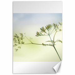 Spring Plant Nature Blue Green Canvas 12  X 18