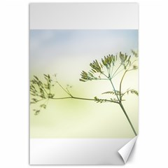 Spring Plant Nature Blue Green Canvas 24  X 36