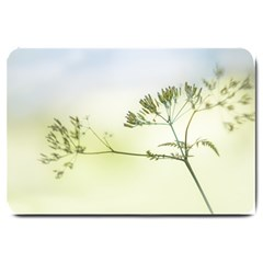 Spring Plant Nature Blue Green Large Doormat