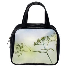 Spring Plant Nature Blue Green Classic Handbags (one Side)