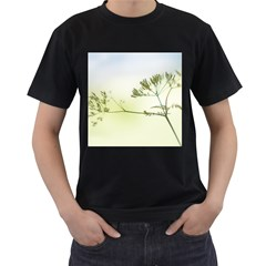 Spring Plant Nature Blue Green Men s T Shirt (black)