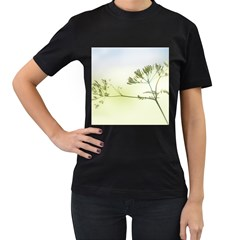Spring Plant Nature Blue Green Women s T Shirt (black)