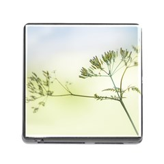 Spring Plant Nature Blue Green Memory Card Reader (square)