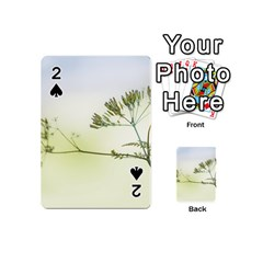 Spring Plant Nature Blue Green Playing Cards 54 (mini)