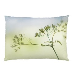 Spring Plant Nature Blue Green Pillow Case (two Sides)