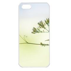 Spring Plant Nature Blue Green Apple Iphone 5 Seamless Case (white)