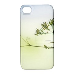 Spring Plant Nature Blue Green Apple Iphone 4/4s Hardshell Case With Stand