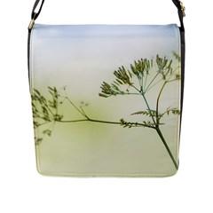 Spring Plant Nature Blue Green Flap Messenger Bag (l)