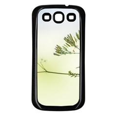 Spring Plant Nature Blue Green Samsung Galaxy S3 Back Case (black)