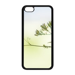 Spring Plant Nature Blue Green Apple Iphone 5c Seamless Case (black)