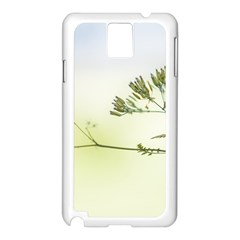 Spring Plant Nature Blue Green Samsung Galaxy Note 3 N9005 Case (white)