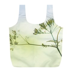Spring Plant Nature Blue Green Full Print Recycle Bags (l)