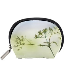 Spring Plant Nature Blue Green Accessory Pouches (small)
