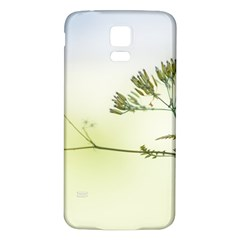 Spring Plant Nature Blue Green Samsung Galaxy S5 Back Case (white)