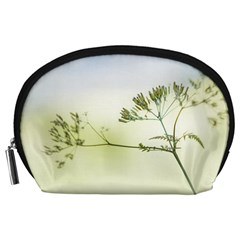 Spring Plant Nature Blue Green Accessory Pouches (large)