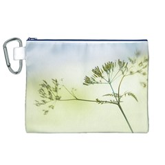 Spring Plant Nature Blue Green Canvas Cosmetic Bag (xl)