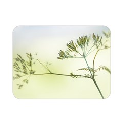 Spring Plant Nature Blue Green Double Sided Flano Blanket (mini)
