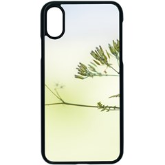 Spring Plant Nature Blue Green Apple Iphone X Seamless Case (black)