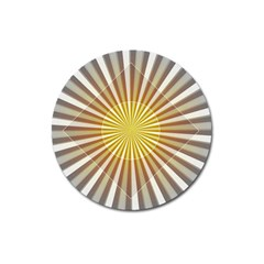 Abstract Art Modern Abstract Magnet 3  (round)