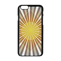 Abstract Art Modern Abstract Apple Iphone 6/6s Black Enamel Case