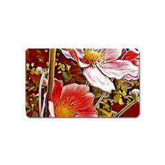 Flower Hostanamone Drawing Plant Magnet (name Card)