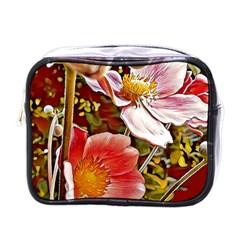 Flower Hostanamone Drawing Plant Mini Toiletries Bags