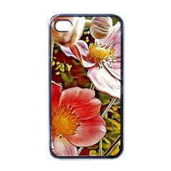 Flower Hostanamone Drawing Plant Apple Iphone 4 Case (black)