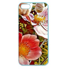 Flower Hostanamone Drawing Plant Apple Seamless Iphone 5 Case (color)