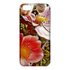 Flower Hostanamone Drawing Plant Apple Iphone 5c Hardshell Case