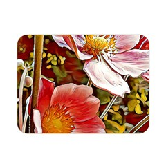 Flower Hostanamone Drawing Plant Double Sided Flano Blanket (mini)
