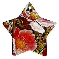 Flower Hostanamone Drawing Plant Ornament (star)