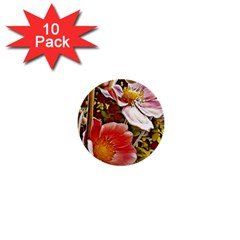 Flower Hostanamone Drawing Plant 1  Mini Buttons (10 Pack)