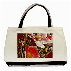 Flower Hostanamone Drawing Plant Basic Tote Bag (two Sides)