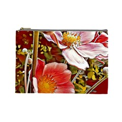Flower Hostanamone Drawing Plant Cosmetic Bag (large)