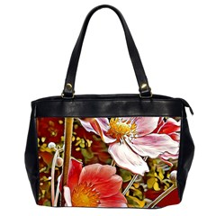 Flower Hostanamone Drawing Plant Office Handbags (2 Sides)