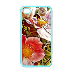 Flower Hostanamone Drawing Plant Apple Iphone 4 Case (color)