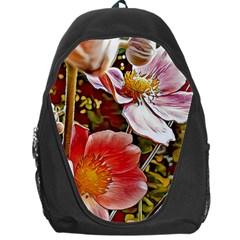 Flower Hostanamone Drawing Plant Backpack Bag