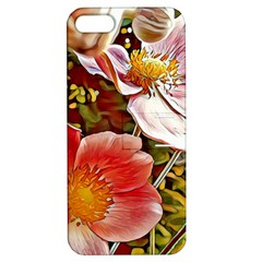 Flower Hostanamone Drawing Plant Apple Iphone 5 Hardshell Case With Stand
