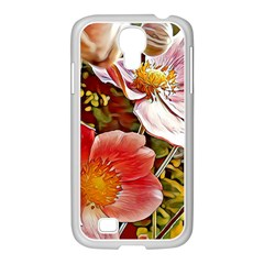 Flower Hostanamone Drawing Plant Samsung Galaxy S4 I9500/ I9505 Case (white)
